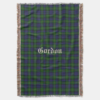 Clan Gordon Tartan Plaid Custom Throw Blanket