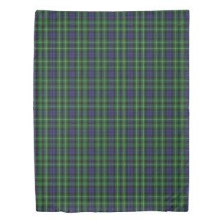 Clan Graham Scottish Accents Blue Green Tartan Duvet Cover