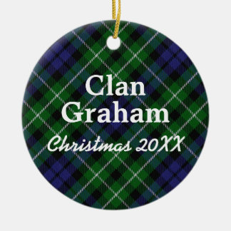 Clan Graham Scottish Tartan Ceramic Ornament