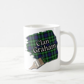 Clan Graham Tartan Paint Brush Cup Mug