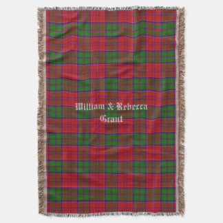 Clan Grant Tartan Plaid Custom Throw Blanket