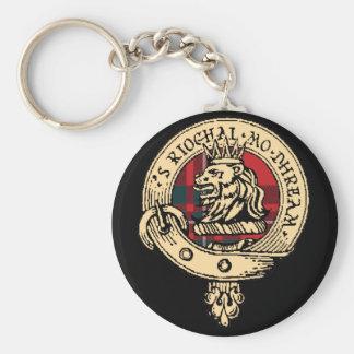 Clan Gregor Key Chain Black (Customize size/shape)
