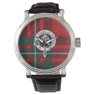 Clan Gregor / MacGregor Wristwatch, Black Band Wrist Watch