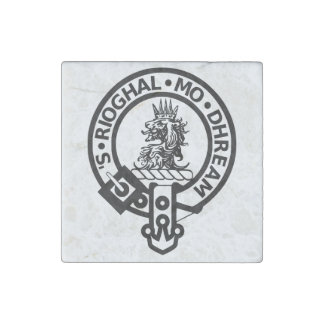 Clan Gregor Royal Is My Race Crest Marble Magnet