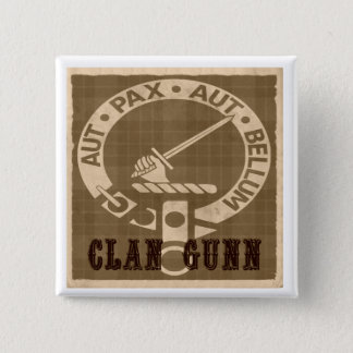 Clan Gunn Creast Sepia Square Button