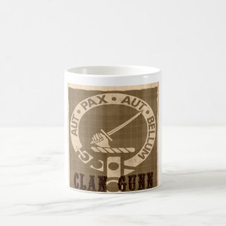 Clan Gunn Crest Badge - Sepia Coffee Mug