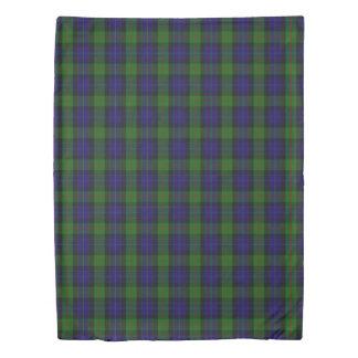 Clan Gunn Scottish Accents Blue Green Tartan Duvet Cover