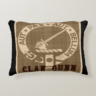 Clan Gunn Sepia Accent Pillow