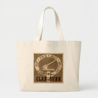 Clan Gunn Sepia Large Tote Bag