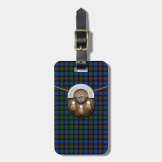 Clan Gunn Tartan And Sporran Luggage Tag