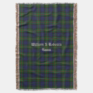 Clan Gunn Tartan Plaid Custom Throw Blanket