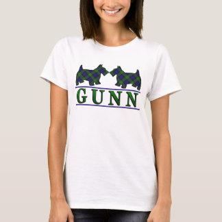 Clan Gunn Tartan Scottie Dogs T-Shirt