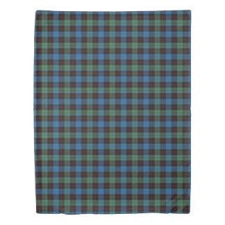 Clan Guthrie Scottish Accents Blue Green Tartan Duvet Cover