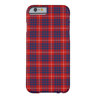 Clan Hamilton Bright Red and Royal Blue Tartan Barely There iPhone 6 Case