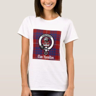 Clan Hamilton Crest & Tartan T-Shirt