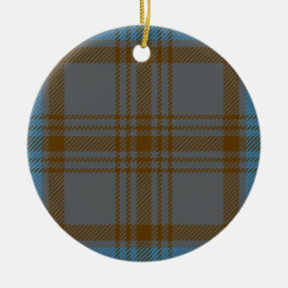 Clan Hannah Tartan Ceramic Ornament