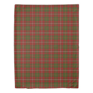 Clan Hay Scottish Accents Red Green Tartan Duvet Cover