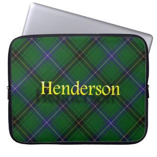 Clan Henderson Scottish Tartan Laptop Sleeve
