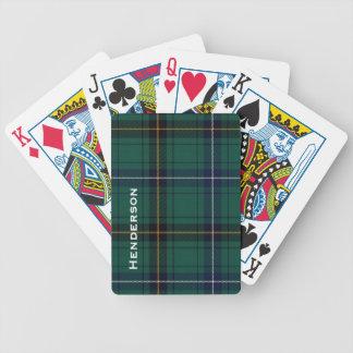Clan Henderson Tartan Plaid Playing Cards