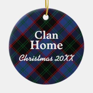Clan Home Hume Scottish Tartan Ceramic Ornament