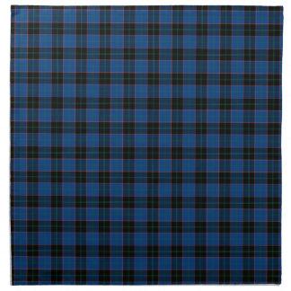 Clan Hume Royal Blue and Black Scottish Tartan Napkin