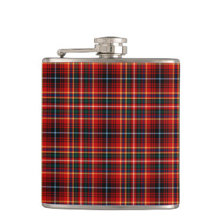 Clan Innes Bright Red Tartan Hip Flask