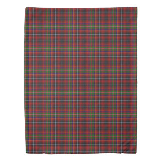Clan Innes Scottish Accents Red Black Green Tartan Duvet Cover