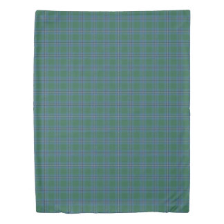 Clan Irvine Irwin Scottish Accents Tartan Duvet Cover
