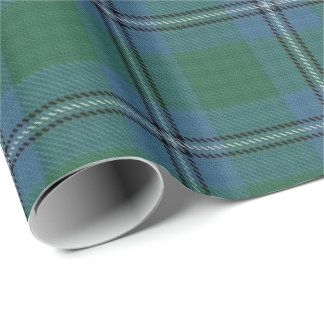 Clan Irvine Irwin Scottish Tartan Wrapping Paper