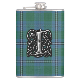 Clan Irvine Irwin Tartan Old Scotland Flask