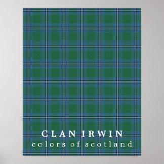 Clan Irwin Colors of Scotland Tartan Poster