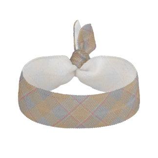 Clan Jardine Scottish Accents Orange Gray Tartan Elastic Hair Tie