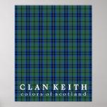 Clan Keith Colours of Scotland Tartan Poster