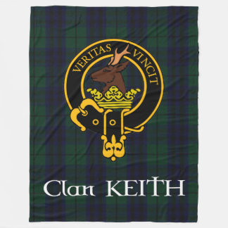 Clan Keith Crest Modern Fleece Blanket
