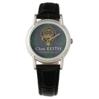 """Clan Keith """"lost"""" crest & tartan watch"""