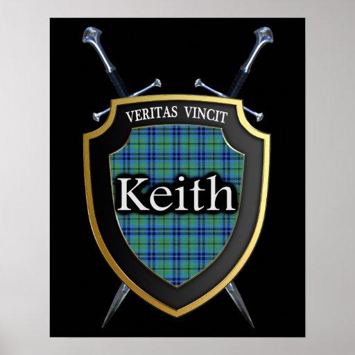 Clan Keith Tartan Scottish Shield & Swords Poster