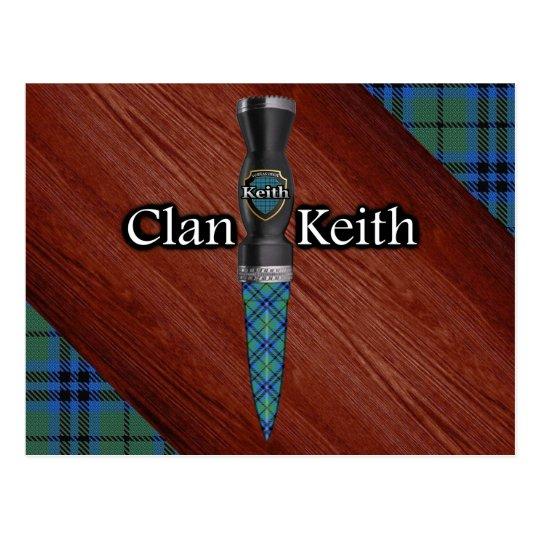 Clan Keith Tartan Sgian Dubh Blade Postcard
