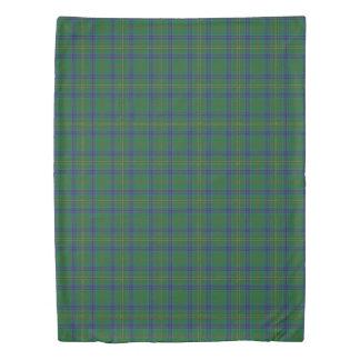 Clan Kennedy Scottish Accents Blue Green Tartan Duvet Cover