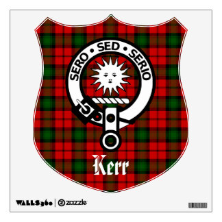 Clan Kerr Crest and Tartan Wall Decal