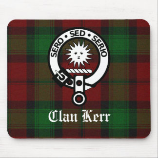 Clan Kerr Crest Badge Tartan Mouse Pad