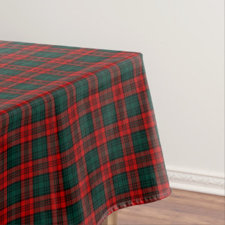 Clan Kerr Red and Forest Green Scottish Tartan Tablecloth