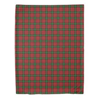 Clan Kerr Scottish Accents Red Green Tartan Duvet Cover