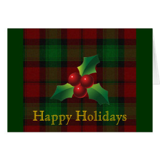 Clan Kerr Tartan Holiday Card
