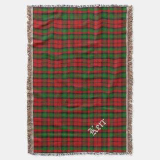 Clan Kerr Tartan Plaid Custom Throw Blanket