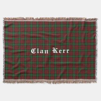 Clan Kerr Tartan Throw Blanket