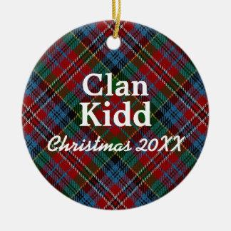 Clan Kidd Scottish Tartan Ceramic Ornament