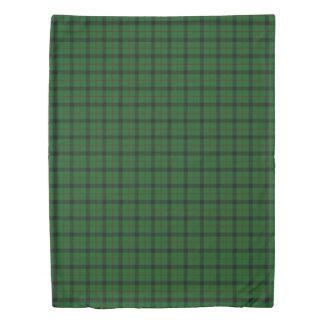 Clan Kincaid Scottish Accents Green Black Tartan Duvet Cover