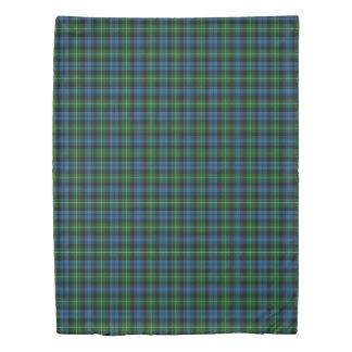 Clan Lamont Scottish Accents Blue Green Tartan Duvet Cover