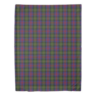 Clan Logan Scottish Accents Blue Red Green Tartan Duvet Cover