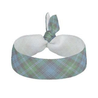 Clan Lyon Scottish Accents Blue Green Tartan Hair Tie